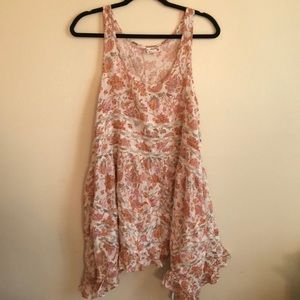 Free People Viscose Voile Slip Floral Pattern